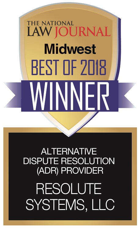 Resolute Systems, LLC is the Midwest Best of 2018 Winner for Alternative Dispute Resolution (ADR) Provider
